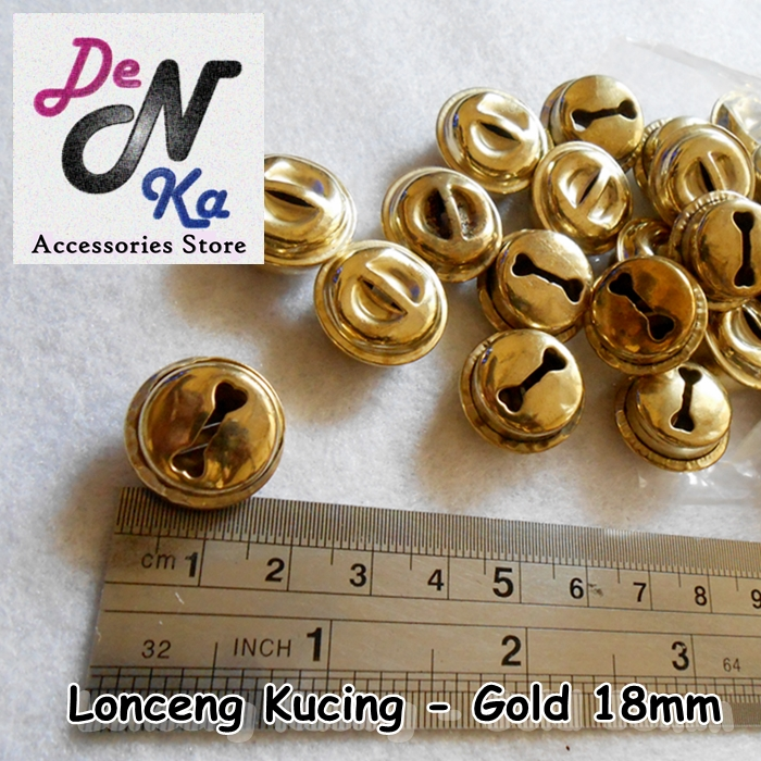 Lonceng Kucing - Gold (18mm)