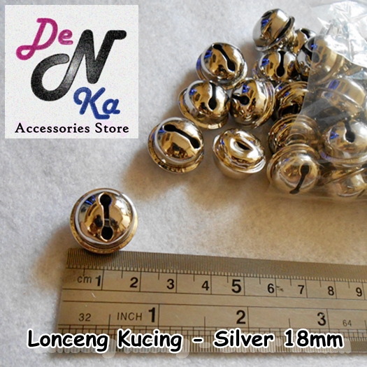 Lonceng Kucing - Silver (18mm)