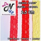 Renda Karet Super 2.5cm – WARNA